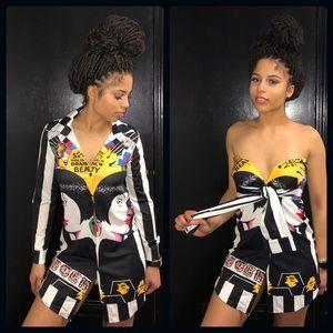 SAME DRESS** Funky Button-Up Dress**